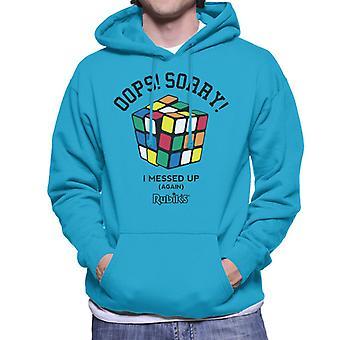 Rubik's Oops Sorry I Messed Up Men's Hooded Sweatshirt