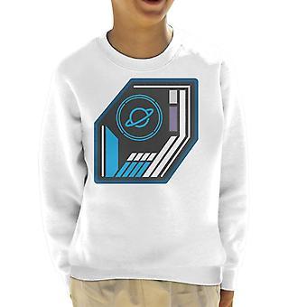 Krystal labyrinten grundlæggende planet badge kid ' s sweatshirt
