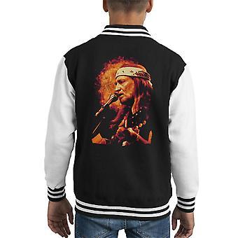 TV Times Singer Willie Nelson 1983 Kid's Varsity Jacket