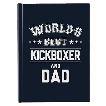 Verdens beste kickboxer og pappa Hardback Journal