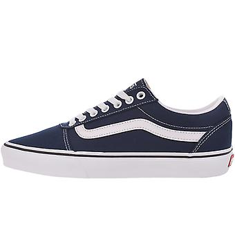 Vans Mens Ward Casual Low Top Canvas Trainers Sneakers Shoes - Dress Blue