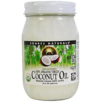 Source Naturals, 100% Virgen Orgánica, Aceite de Coco, 15 fl oz. (443 ml)