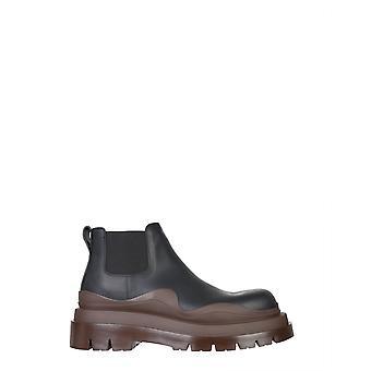 Bottega Veneta 630281vbs501024 Heren's Black Leather Enkellaarsjes