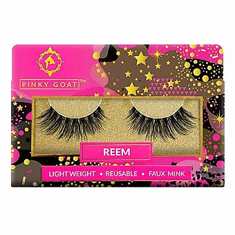Pinky Goat Reusable Faux Mink Lashes - Reem - Criss Crossed Lightweigth Falsies