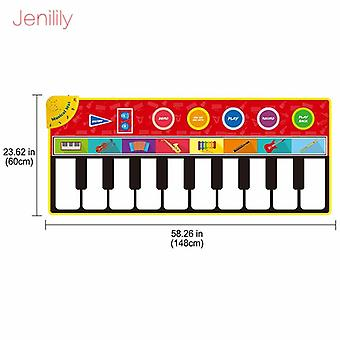 3 Types Multifunction Musical Instruments Mat Keyboard Piano Baby Play Mat Educational Toys For Kids Gift