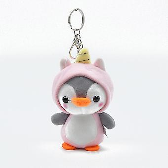 1pcs Peluche Cute Penguin Bee Animal Plush- Ring Key Holder Sac Décor Kids