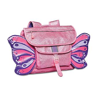 Mochila De mariposa rosa brillante (mediana)