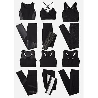 Brand - Core 10 Women's Icon Series - The Dare Devil Sports Bra, black/black shine, S (4-6)