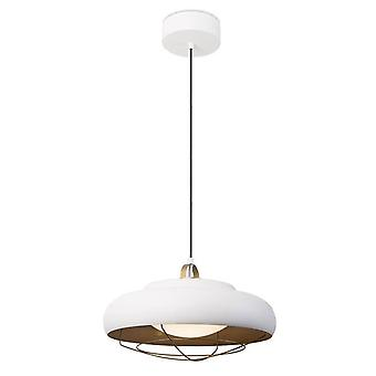Integrated LED Dome Ceiling Pendant Light White, Gold