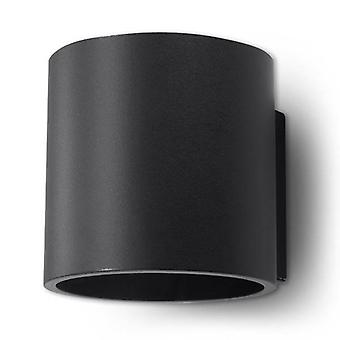 1 Light Up Down Wall Light Black, G9