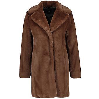 Taifun Truffle Brown Faux Fur Coat