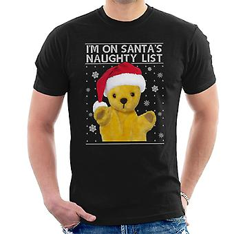 Sooty Christmas Im Op Santas Naughty List Men's T-Shirt