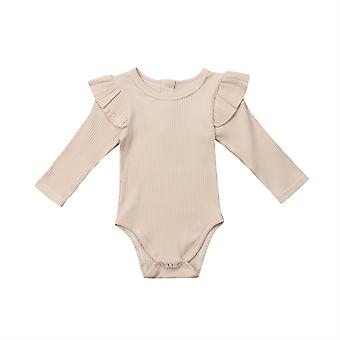 Newborn  Baby Girl Princess  Rompers Jumpsuit With Long Sleeves