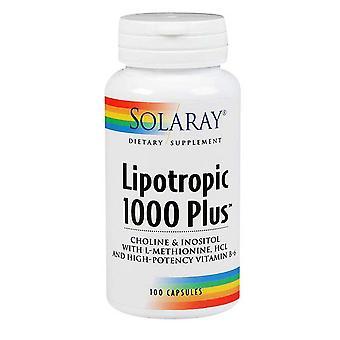 Solaray Lipotropic 1000 Plus, 100 Korkkia