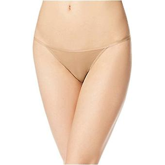 Calvin Klein Women's Sleek String Bikini Panty, Bare, Small