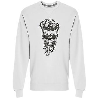 Hipster Skull Beard Sweatshirt Men's -Bild av Shutterstock