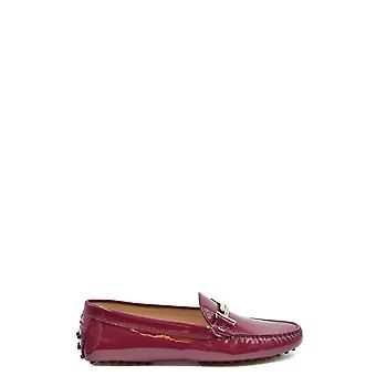 Tod's Ezbc025128 Women's Burgundy Patent Leather Loafers