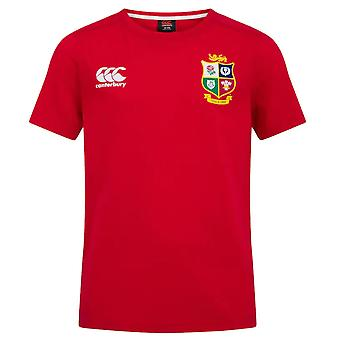Canterbury British & Irish Lions Rugby Cotton Jersey Tee | Junior | Rood | 2021