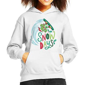 Care Bears Unlock The Magic Christmas Snow Days Kid's Hooded Sweatshirt