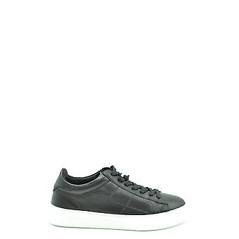 Hogan Ezbc030219 Mænd's Sorte Læder Sneakers