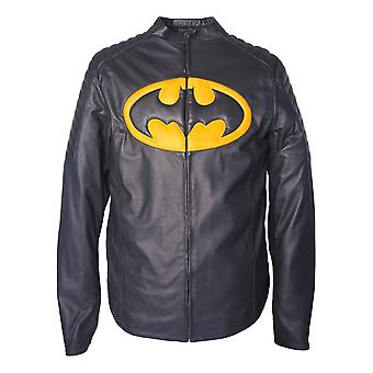 Batman character real leather jacket