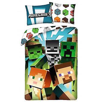 Minecraft Chase Single Cotton Duvet Cover Set - Tamaño europeo