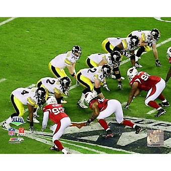 Le Pittsburgh Steelers ligne Offensive - Super Bowl XLIII - #19 Photo imprimable