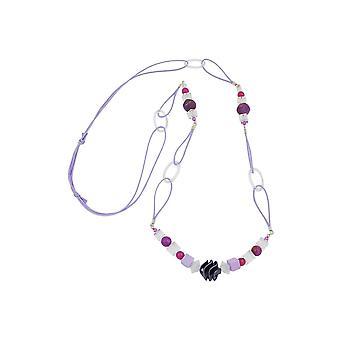 Collar Espiral Perla Púrpura 100cm