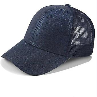 Women's Mesh Cap Rear Open Sequin Ponytail Baseball Fashion Wild Cap