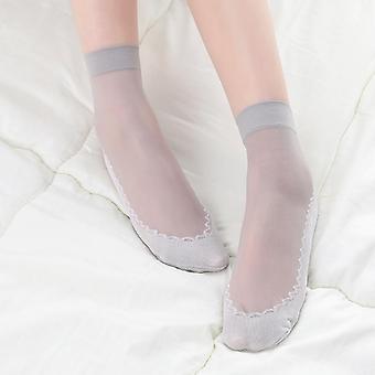 1pair المرأة لينة عارضة غير زلة أسفل لصق الأزياء شفافة رقيقة الحرير