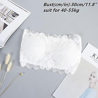 Winter Summer Floral Lace Bandeau Seamless Wire Free Hook Bralette Strapless