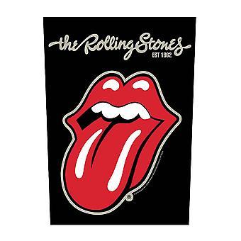 Il Rolling Stones Back Patch Intonacato lingua ufficiale nero cucito su 36cm x 29cm