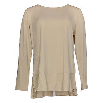 Linea Por Louis Dell'Olio Women's Top Long Sleeve Bege A302559