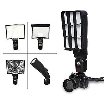"Fotocreat 9""√ó12"" flash diffuser reflector kit-bend bounce positionable diffuser + 2 reflector + hon"