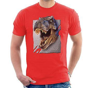 Jurassic Park Rex Charakter Kopf Männer's T-Shirt