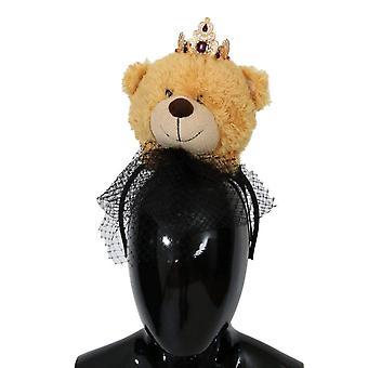 Brown teddy bear gold crystal d82342487
