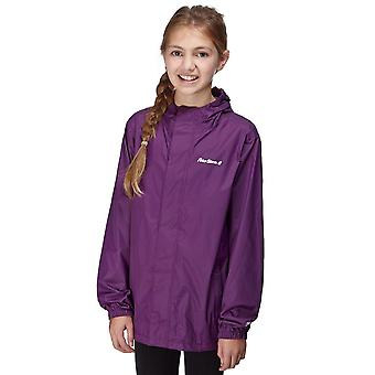 New Peter Storm Girl's Hooded Packable Waterproof Jacket Purple