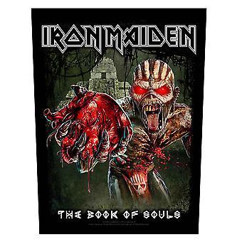 Iron Maiden Backpatch boek van zielen band logo Eddie Heart officiële 36cm x 29cm