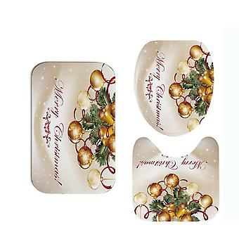 Bathroom Accessaries Set, Christmas Decor, Shower Curtain, Toilet Seat Cover,