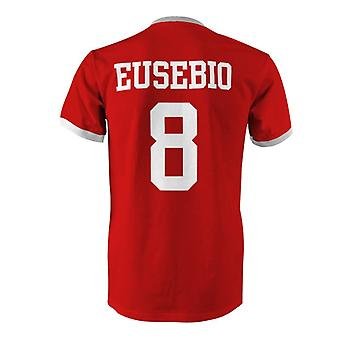Eusebio 8 Portugal Country Ringer T-Shirt