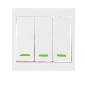 3kpl langaton 3CH-kaukolähetin Tahmea RF TX Smart Koti Olohuone Makuuhuone 433MHZ 86 Seinä