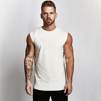 Gym Workout Sleeveless Shirt Tank Top, Men Bodybuilding Clothing Fitness