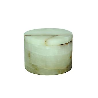 """Spura Home Eirenne Collection Light Green Marble Onyx 5-3/4"""" Dia x 4"""" Honed Finish Box"""