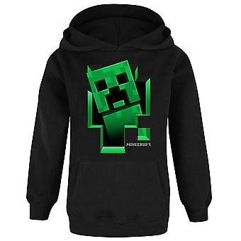 Minecraft Hoodie For Boys | Kids Creeper Inside Black Hooded Jumper | Gamer Sweater Clothing Merchandise