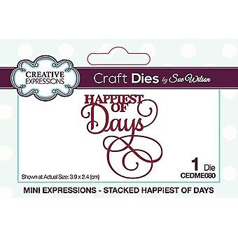 Creative Expressions Mini Expressions Collectie Cutting Dies - Stacked - Happiest of Days