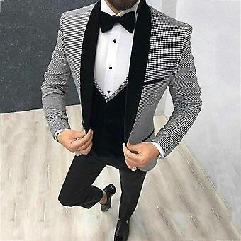 Groom Bleiseri Tuxedo Slim Fit puku