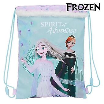 Backpack with strings frozen spirit of adventure light blue pink