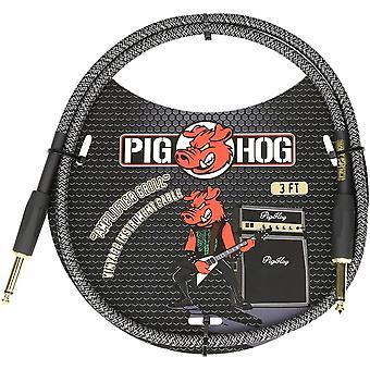 "Cerdo cerdo pch3ag 1/4"" a 1/4"" cable de parche de instrumento de parrilla amplificador, 3 pies"