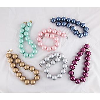Huge Faux Pearl Necklace 30mm Large Pearl