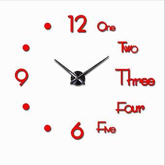 Large Wall Clock, Diy Quartz Clocks, Watches Acrylic Mirror Stickers, Living